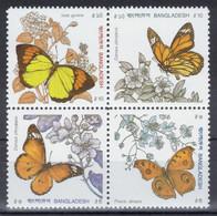 Bangladesh - YT 327-330 ** MNH - 1990 - Papillons - Butterflies - Bangladesh