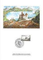 Encart Maximum Double - Cad 28 5 1977 Sur Yvert 1935 1er Jour ANNECY Congrès Fédération Sociétés Phila.- Numéroté 00379 - Briefe U. Dokumente
