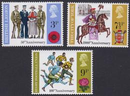GRANDE-BRETAGNE, 1971, Commémoration (Yvert 643 Au 645 ) - Unused Stamps