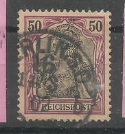 """Deutsches Reich 61, 50 Pf-Germania - Reichspost Gestempelt   """" Mi.: 1,50 € - Gebraucht"""