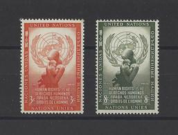 NATIONS UNIES  YT  New York  N° 29/30  Neuf **  1954 - Unused Stamps