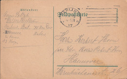 German Feldpost WW1: Unit Under 75. Reserve Division Posted Berlin 10.11.1916 - Card (DD33-19) - WW1 (I Guerra Mundial)