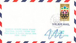 Canada Flight Covers FDC 1976 Montreal Olympic Games - Flown To Previous Olympic Sites: Berlin (DD33-19) - Verano 1976: Montréal