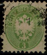 AUSTRIA  1863 DOUBLE EAGLE MI No 31 USED VF!! - Used Stamps