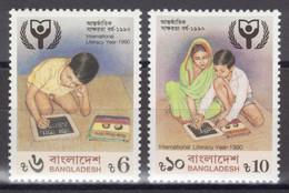 Bangladesh - YT 305-306 ** MNH - 1990 - International Literacy Year - Alphabétisation - Bangladesh