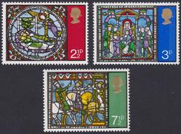 GRANDE-BRETAGNE, 1971, Noel, Vitraux (Yvert 650 Au 652 ) - Unused Stamps