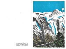 Encart Tunnel Sous Mont Blanc - Cad 17 07 1965 1er Jour CHAMONIX Yvert 1454 Et Cad Courmayeur 16 7 65 Sur Timbre Italien - Briefe U. Dokumente