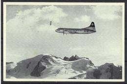 Carte P De 1952 ( Avion / The Airline Of Switzerland ) - 1946-....: Modern Era