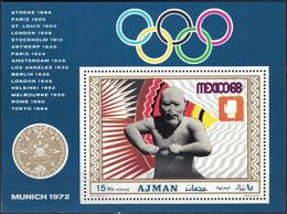 Ajman, 1969, Mi. 387 (bl. 98A), Olympic Games, Munich, MNH - Estate 1972: Monaco