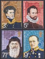 GRANDE-BRETAGNE, 1972, Explorateurs Britannique (Yvert 653 Au 656 ) - Unused Stamps