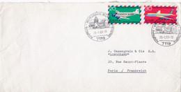 Enveloppe Cover Weissbach Württ To Paris - Briefe U. Dokumente