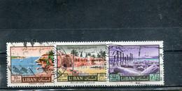 Liban 1967 Yt 413 415 419 Timbres Pour La Poste Aérienne Année Internationale Du Tourisme - Lebanon