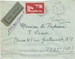 CTN74 - INDOCHINE LETTRE AVION SAÏGON MESSAGERIES MARITIMES / PARIS 22/9/1934 - Covers & Documents