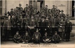 37 . LANGEAIS . LE REVEIL DE L'ABLETTE . SOCIETE DES BIGOPHONES DE LANGEAIS .  ( Trait Blanc Pas Sur Original ) - Langeais