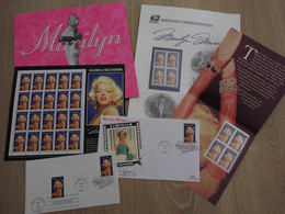 USA Lot  Marilyn Monroe Sc# 2967 MNH Ceremony Pack 1995 32¢ + FDC ,sheet, ...set - Blocks & Sheetlets