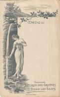PY / MENU Ancien VIERGE EVIAN-LES-BAINS Source Des Grottes Femme Cascade Source - Menus
