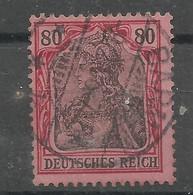 Deutsches Reich 77, 80 Pf-Germania - Reichspost Gestempelt   Mi.: 3,50 € - Gebraucht