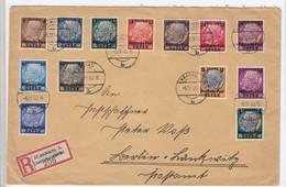 Generalgouvernement Nr.1-13 Auf R-Satzbrief AKs - Besetzungen 1938-45