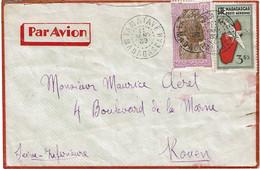 CTN74 - MADAGASCAR LETTRE AVION TAMATAVE / ROUEN 11/1/1939 - Airmail