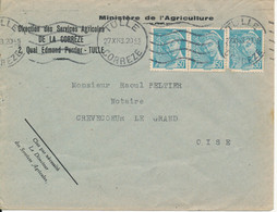 France Cover Sent To Oise Tulle 27-11-1943 - Covers & Documents