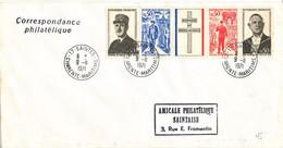 France Cover Saintes Charente Maritime 9-11-1971 With A Strip Of General Charles De Gaule - Briefe U. Dokumente