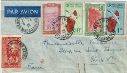 CTN74 - MADAGASCAR LETTRE AVION TANANARIVE / PARIS 8/4/1936 - Airmail