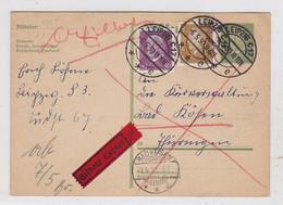 Deutsches Reich Express-Karte Mit MIF Nach Bad Kösen - Briefe U. Dokumente