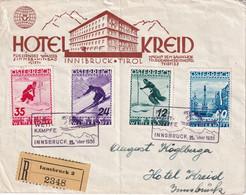 AUTRICHE 1936 LETTRE RECOMMANDEE DE INNSBRUCK  HOTEL KREID - Covers & Documents