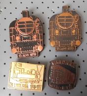 Locomotive Train Railway Yugoslavia 6 Different Pins - Transportation