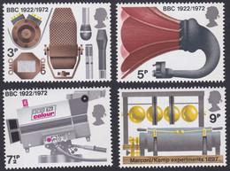GRANDE-BRETAGNE, 1972, BBC, Radio (Yvert 665 Au 668 ) - Unused Stamps