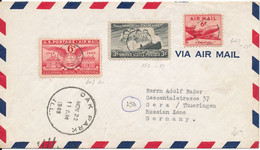 USA Air Mail Cover Sen To Germany Oak Park 22-11-1949 (light Hinged Marks And The Cover Is Bended) - 2c. 1941-1960 Covers