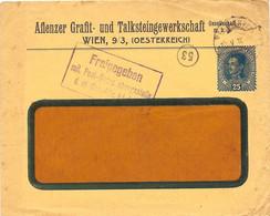 "Enveloppe Affranchie à 25 Heller. Obl. à Wien 23/05/1918 + Tamponner ""Freigegeben"". - Covers & Documents"