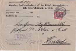 ALLEMAGNE 1903 LETTRE DE ST.GOARSHAUSEN - Briefe U. Dokumente