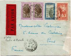 CTN74 - MADAGASCAR - RAID MOENCH ET BURTIN TANARIVE PARIS 13/11/1931 - Airmail