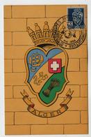 Algérie III° Congrès International D'Agrumiculture 12 Mai 1954 ALGER Sur N° Yv 181, CM Carte Maximum - Maximum Cards