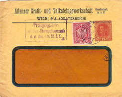 "Enveloppe Affranchie à 10 + 15 Heller. Obl. à Wien 18/09/1918 + Tamponner ""Freigegeben"". - Covers & Documents"