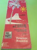 Carte Géographique/Mapa Turistico/COSTA BLANCA/ Firestone Hispania/ Valencia-Benidorm-Murcia/1968            DT138 - Tourism Brochures