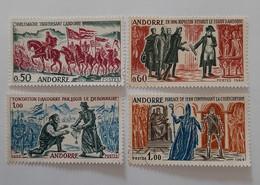 N° 167 à 170       Faits Historiques D' Andorre  -  4 Valeurs - Gebraucht