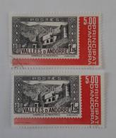 N° 304       Exposition Officielle Des Timbres Poste Andorrans 1982  -  2 Exemplaires - Gebraucht