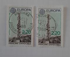 N° 369       Europa 1988  -  Antenne D' Enclar  -  2 Exemplaires - Gebraucht