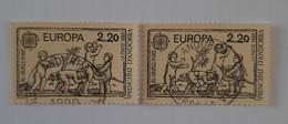 N° 378       Europa 1989  -  Jeux D' Enfants  -  Le Chaval Fort  -  2 Exemplaires - Gebraucht