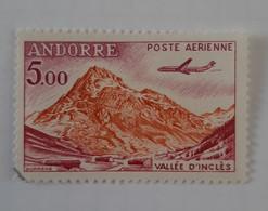 N° 7       Vallée D' Inclès à Soldeu  -  Avion  -  5 F  -  Oblitéré - Luftpost