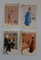 N° 608 à 611       Les Arts En Australie  -  4 Valeurs - Used Stamps