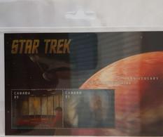 F3253       Star Trek   -  50 Ans De La Série Télévisée - Blocks & Sheetlets
