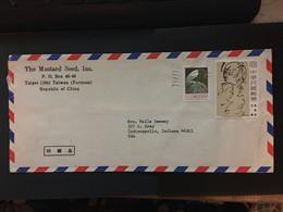 CHINA, Tai WAN, Letter Cover, Taiwan To USA, Rare, Beautiful, CINA, CHINE,  LIST 977 - Covers & Documents