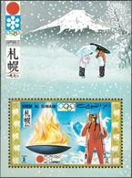 Umm Al Qiwain, United Arab Emirates, 1971, Mi. 465 (bl. 31), Olympic Games, Sapporo, MNH - Umm Al-Qiwain