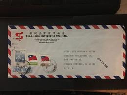 CHINA, Tai WAN, Letter Cover, Taiwan To USA, Rare, Beautiful, CINA, CHINE,  LIST 978 - Covers & Documents