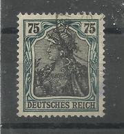 Deutsches Reich 104, 0,75 Germania Gestempelt   Mi.: 3,00 € - Gebraucht