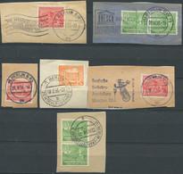 ALLEMAGNE / BERLIN / 1949. 6 FRAGMENTS AVEC BEAUX CACHETS - Gebraucht