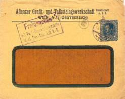 "Enveloppe Affranchie à 25 Heller. Obl. à Wien 03/06/1918 + Tamponner ""Freigegeben"". - Covers & Documents"